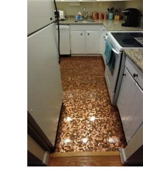 How to Install a Penny Floor   DIYIdeaCenter.com