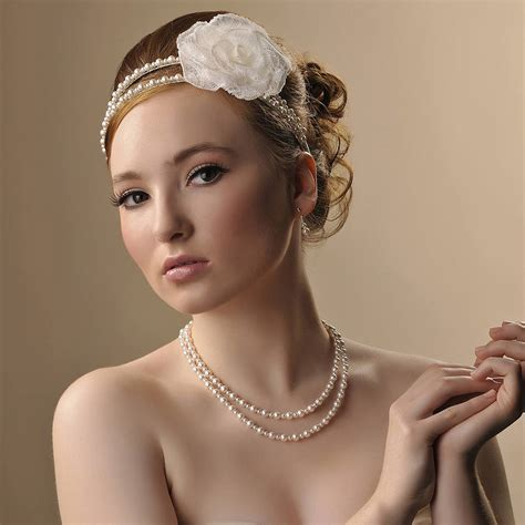 Handmade Headpieces - handmade beatrice wedding headpiece by rosie willett