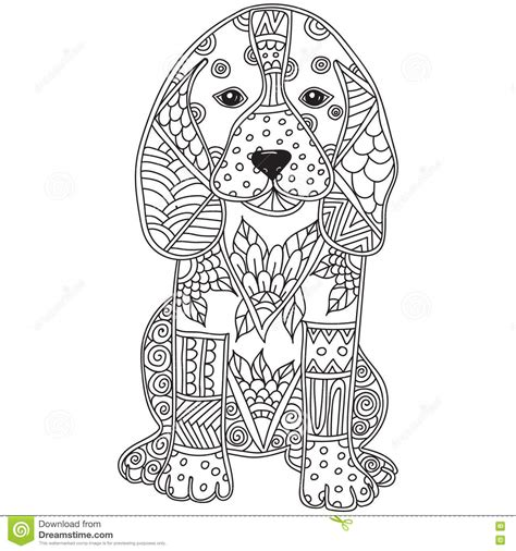 K 3d Pomerian Kid antistress or children coloring page stock