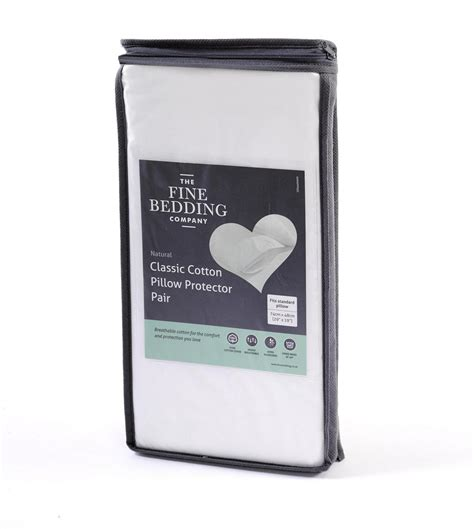 fine bedding the fine bedding co classic cotton pillow protector pair from slumberslumber com