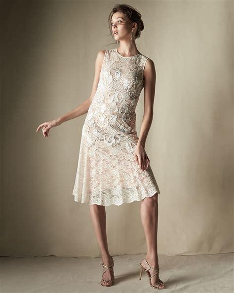 Dress Janny packham floral applique lace cocktail dress in white lyst
