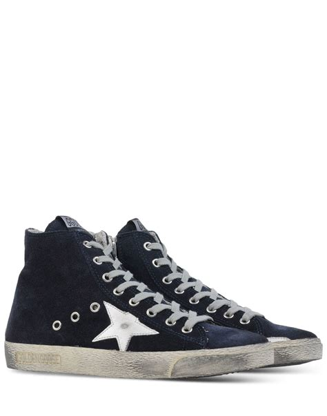 golden goose high top sneakers golden goose deluxe brand high top sneakers in blue