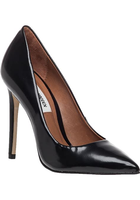 Steve Madden Pumps by Steve Madden Proto Black Leather Pointed In Black Lyst