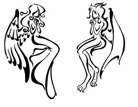 demon tribal tattoos 1000 images about vs evil on