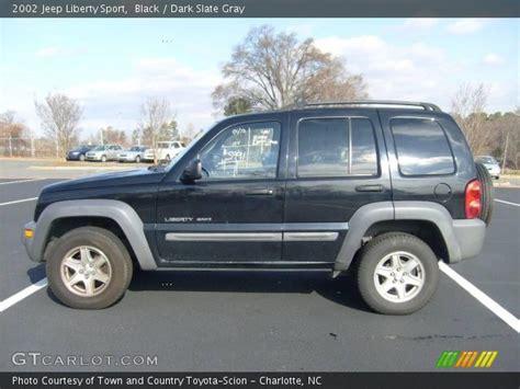 black jeep liberty 2002 black 2002 jeep liberty sport slate gray interior