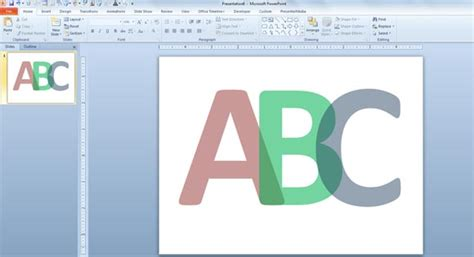 How To Make Translucent Letters In Powerpoint 2010 Letter Template Powerpoint
