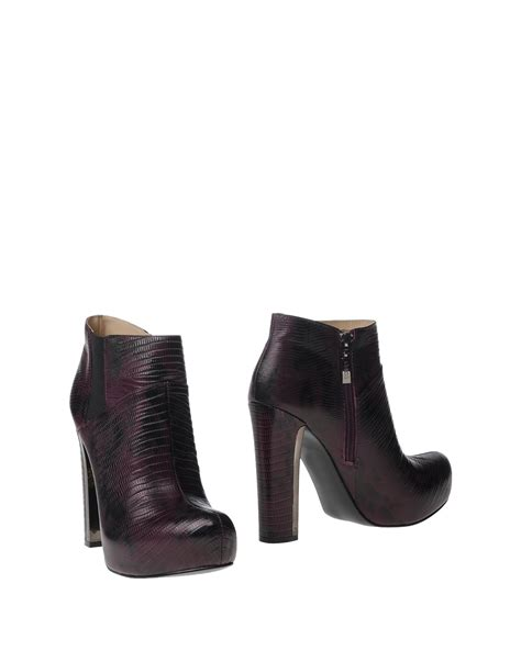 guess ankle boots in purple lyst