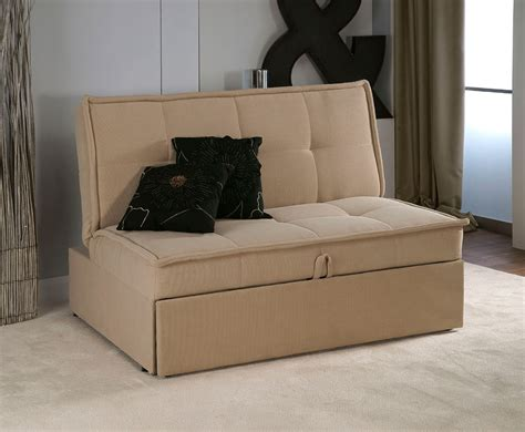 couches with pull out bed triton brown upholstered clic clac sofa bed