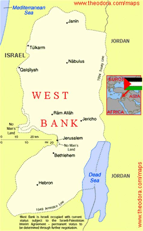 west bank map maps of west bank west bank flags maps economy geography climate resources