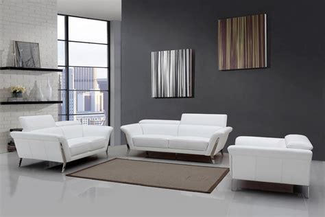 white sofa set living room modern white upholstered in italian leather sofa set new