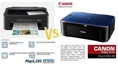 Printer Canon Vs Epson android mobile phones epson me101 vs canon e510 aio printer price specs pros comparison