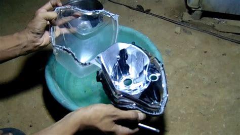 Lu Led Motor Beat Belakang cara mudah membuka reflektor batok lu dengan air