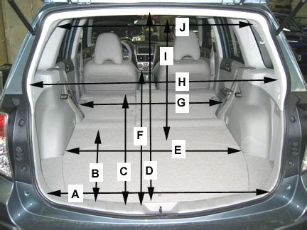 Subaru Forester Cargo Space Dimensions by 2010 Subaru Forester Specs Images Details Prices