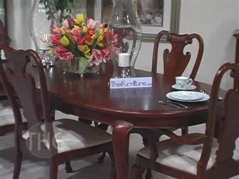American Drew Dining Room Table by Opulent Dining Room Set With Oval Leg Table Cherry Grove