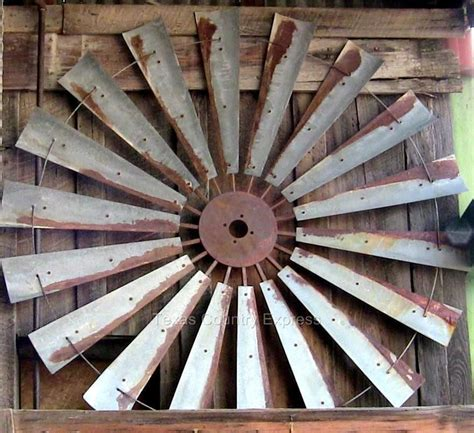 windmill wall decor 60 quot rustic windmill fan western ranch barn farmhouse