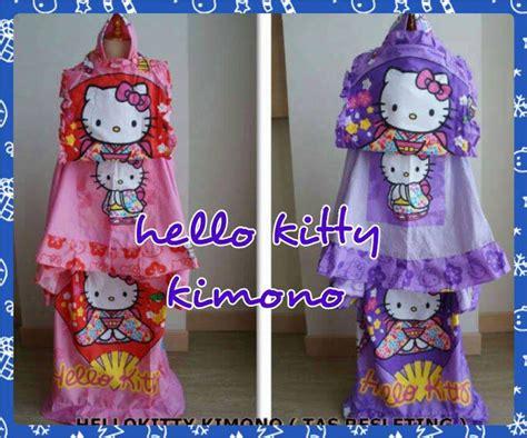 Mukena Anak Hello Strawberry Size L 6 8 Th mukena anak karakter mukena anak lucu mukena anak cantik mukena anak murah