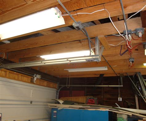 fluorescent shop light repair wiring basement lights