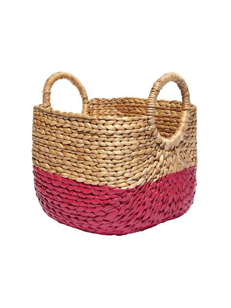 how to paint a rattan basket hgtv