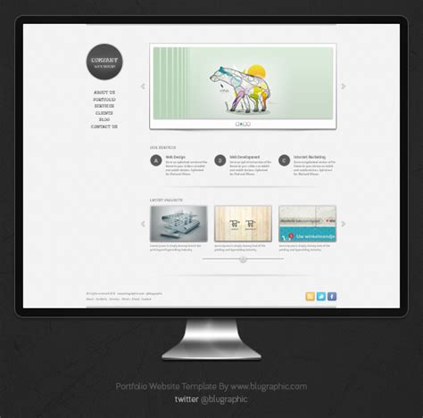 templates for portfolio free portfolio website template psd