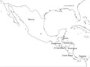 Central America Outline Map Labeled by Outline Map Of Mexico Az Coloring Pages