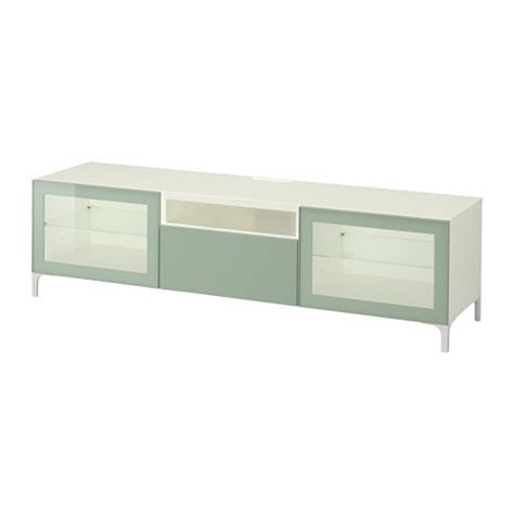 ikea besta furniture best 197 tv bench white selsviken high gloss light grey