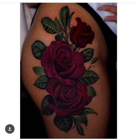 rose on thigh tattoo best 25 thigh ideas on