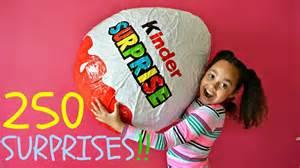 giant kinder surprise egg 250 surprises toys andme