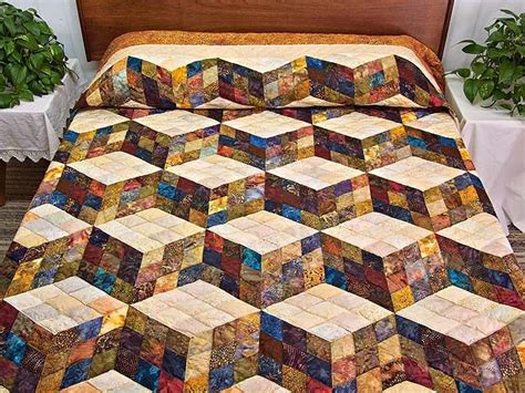 Amish Patchwork Quilts - best 25 tumbling blocks ideas on quilt blocks
