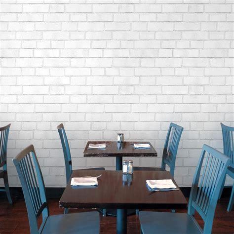 white brick removable wallpaper contemporary wallpaper brick textured industrial loft white removable wallpaper
