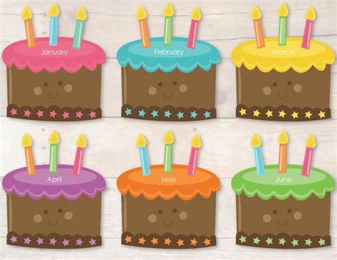 birthday bulletin board templates 8 best images of monthly birthday cupcake printables