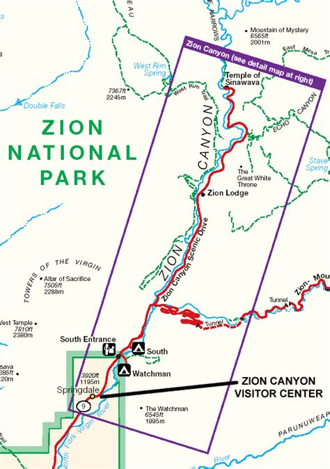 printable map of zion national park rv parks near zion national park rv park near zionzion