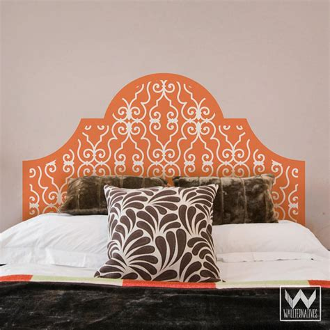 Removable Headboard by Iron Trellis Pattern Headboard Removable Wall Decal