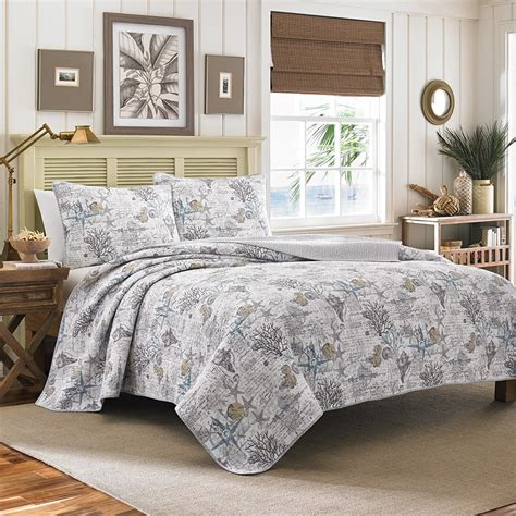 coastal style bedding tommy bahama beach bliss pelican grey quilt set from