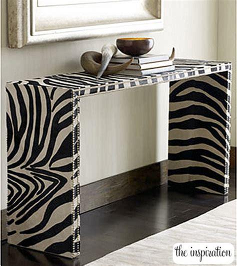 diy zebra print room decor diy zebra console table