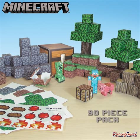 Minecraft Papercraft Deluxe Pack - minecraft paper craft 90 overworld deluxe pack