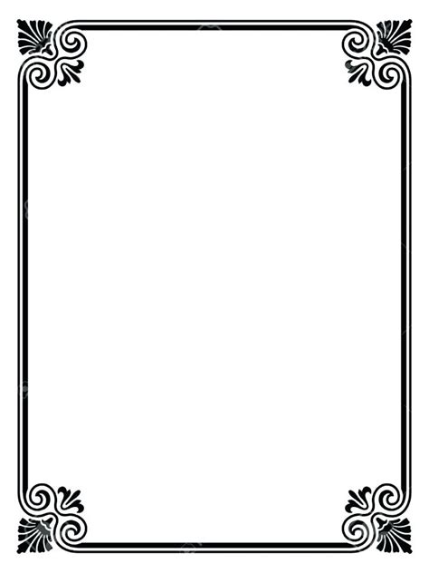 Paper Border Paper With Borders Border Template Simple Borders For Paper Simple Borders For Border Paper Template 2