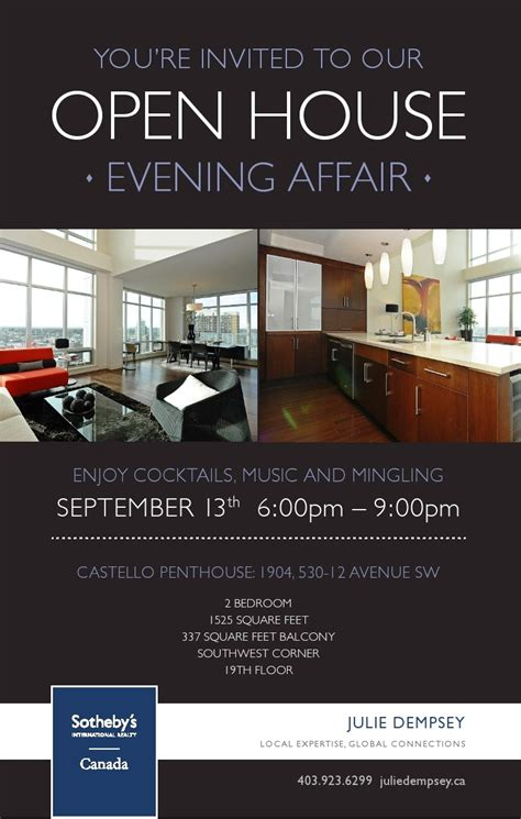 free open house post card templates open house and evening affair september