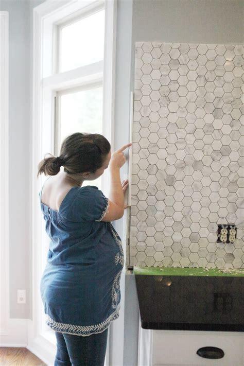 How To Install Tile Backsplash In Kitchen Feeling Edgey Bower Power
