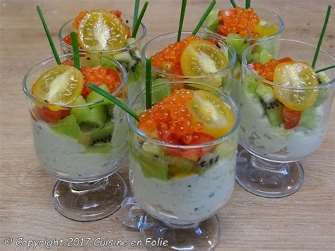cuisine en folie verrines crabes avocat kiwi
