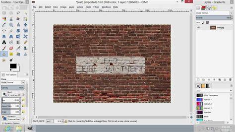 gimp tutorial clone tool how to use gimp clone tool youtube