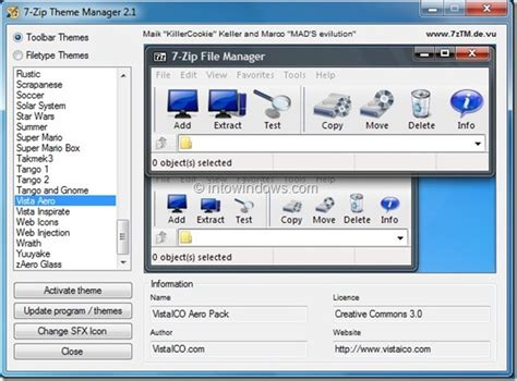windows 8 theme for windows 7 zip 7 zip theme manager customize 7 zip user interface