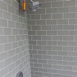 Framing Shower Bench Gray Subway Tiles Design Ideas