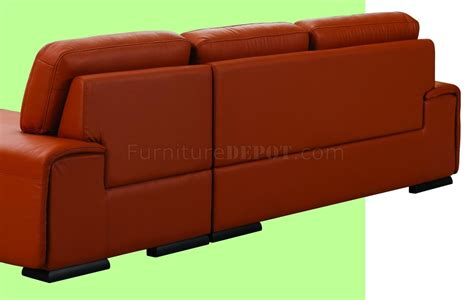 leather orange sofa orange leather upholstery stylish sectional sofa