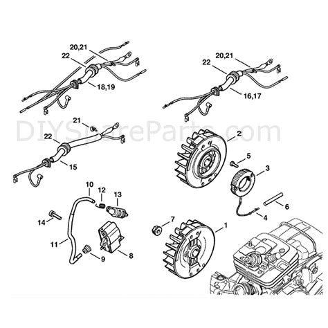 stihl ms 361 parts diagram stihl ms 361 chainsaw ms361 c bq parts diagram ignition