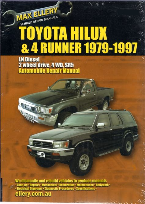 car engine repair manual 2010 toyota 4runner lane departure warning toyota hilux 4 runner ln series diesel 1979 1997 sagin workshop car manuals repair books