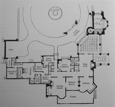 gilded age mansions floor plans elm court mansion first floor plan gilded era mansion floor plans pinterest architectural