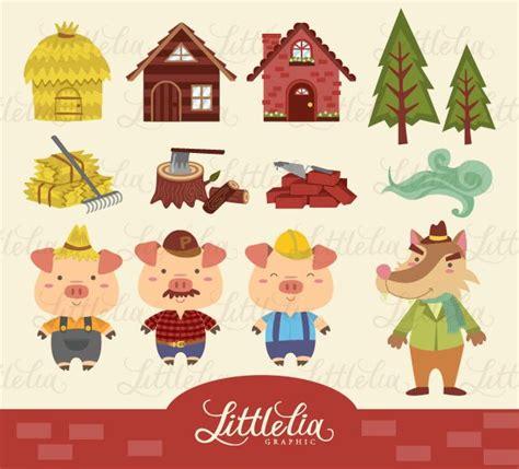 printable straw house litle lia three little pig clipart clip art