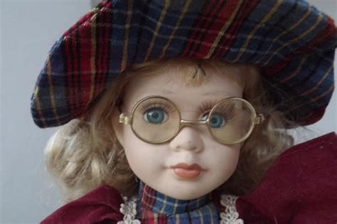 porcelain doll with glasses other collectable toys porcelain doll with stuffed