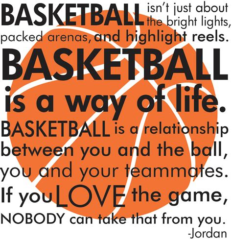 Basketball michael jordan quote with basketball by grabersgraphics