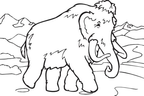 Coloring Book Mammoth Clipart   i2Clipart   Royalty Free